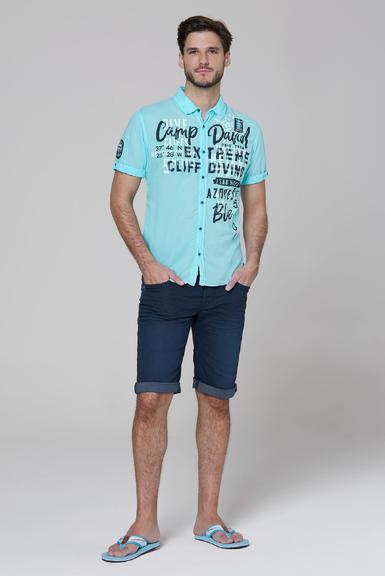 Košile CCB-2004-5677 fresh aqua|S - 2