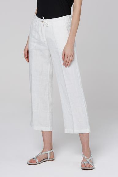 Lněné kalhoty SCU-2000-1389 Cotton White|S - 2