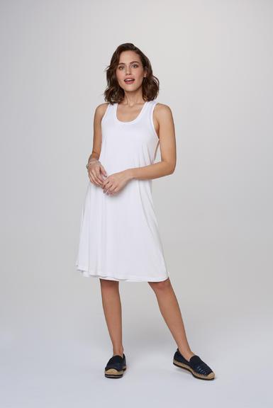 Dvouvrstvé šaty SCU-2000-7526 opticwhite|S - 2