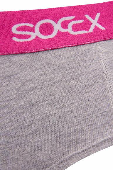 Kalhotky SCU-9999-8895 light grey-pink|L - 2