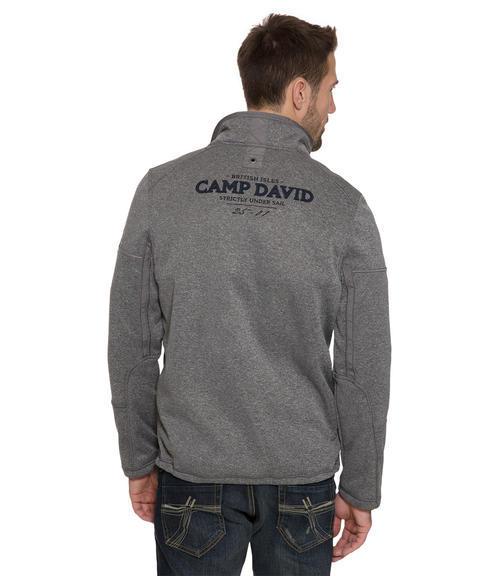 Antracitově šedá softshellová bunda s prošíváním|M - 2