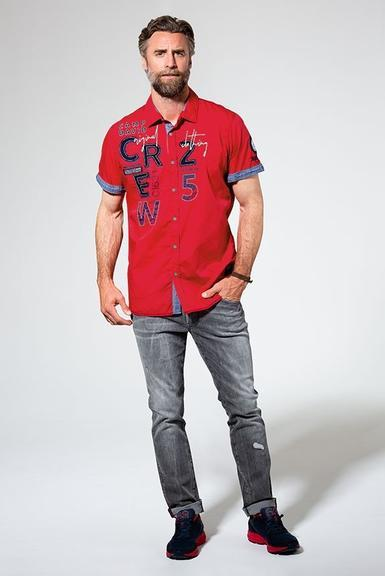 Košile CCB-1907-5838 Royal Red|M - 2