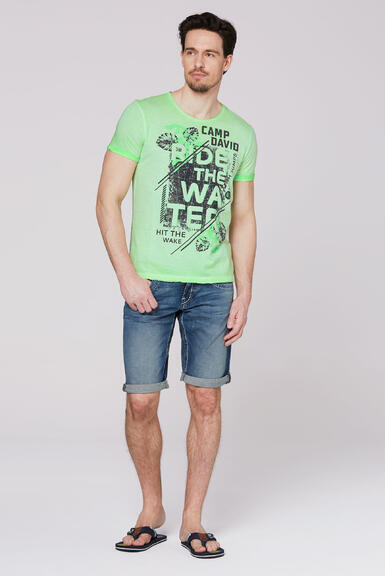 Tričko CCB-2003-3654 kiwi green|XXL - 2
