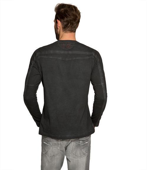 Černé tričko s prošívaným nápisem|M/L - 2