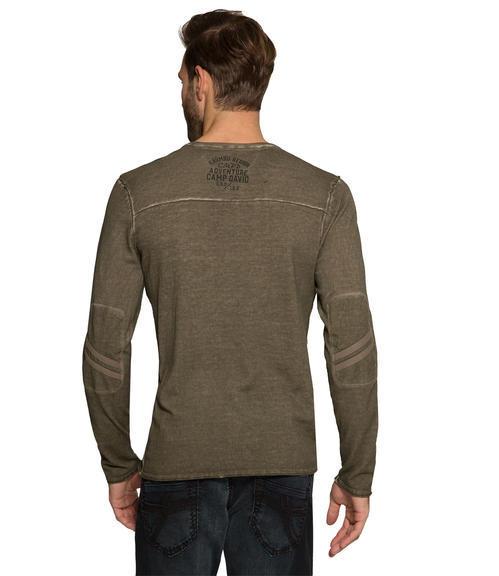 Vzdušný khaki svetr|S - 2