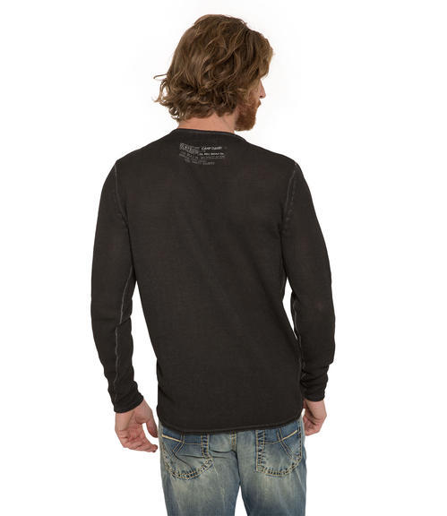 Ležérní černý svetr|M - 2