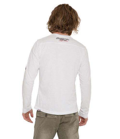 Bílé tričko s dlouhým rukávem|S - 2