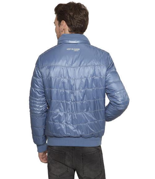 Polstrovaná modrá bunda|XXXL - 2