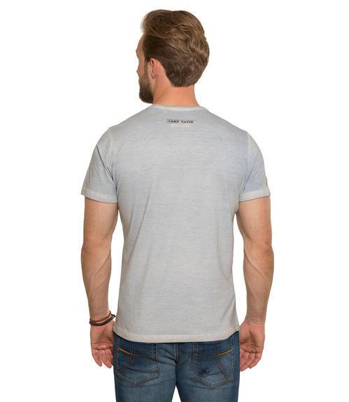 světle modré tričko s potiskem|S - 2