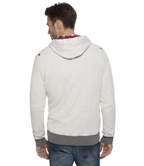 bílá mikina s kapucí|S - 2