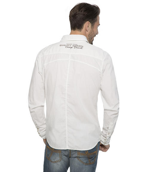 bílá košile s dlouhým rukávem S - 2