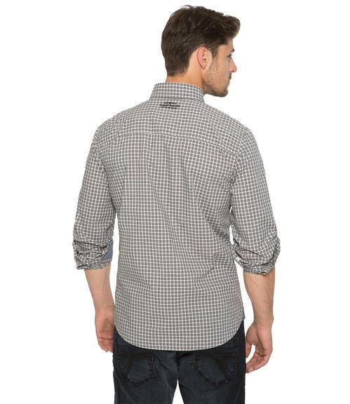 Šedo-bílá károvaná košile|M/L - 2