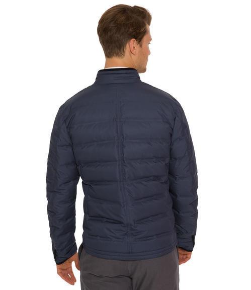 Tmavě modrá bunda s náprsní kapsou|48 - 2
