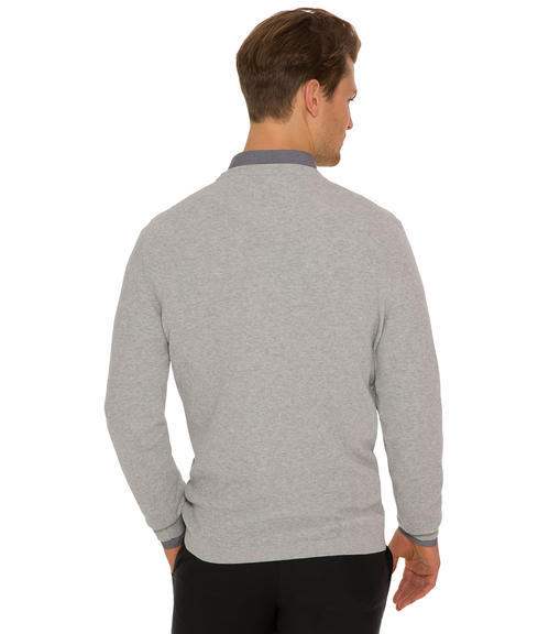 Světle šedý pletený svetr|XL - 2