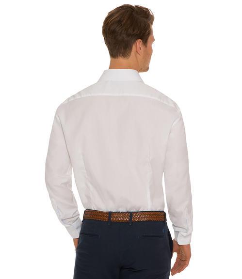 Bílá košile s dlouhým rukávem a jemným vzorem|46 - 2