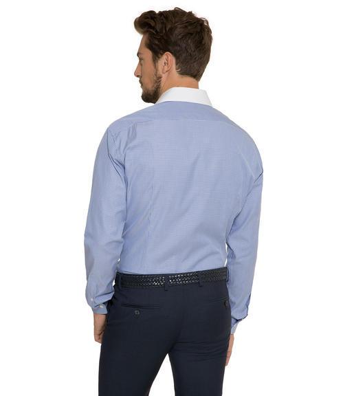 Modrá košile s tkanou strukturou|41 - 2