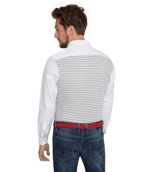 Bílá košile s pruhy na zádech|40 - 2