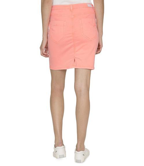 Džínová sukně SDU-1900-7392 intense orange S - 2