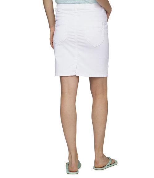 Džínová sukně SDU-1900-7392 optic white|S - 2