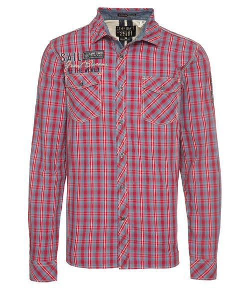 Košile CCB-1809-5777 royal red|M - 2