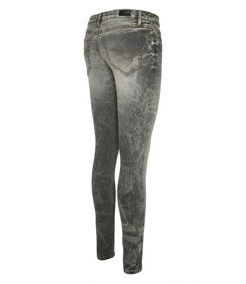 Světle šedé džínové kalhoty se sepraným efektem|32 - 2