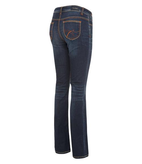 tmavě modré strečové džíny|27 - 2