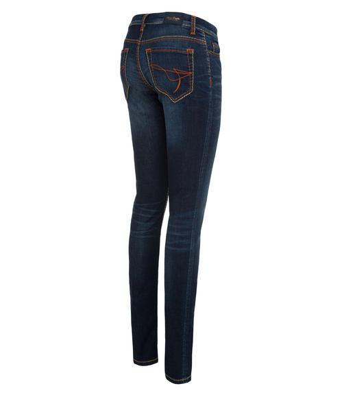 tmavě modré strečové džíny|32 - 2