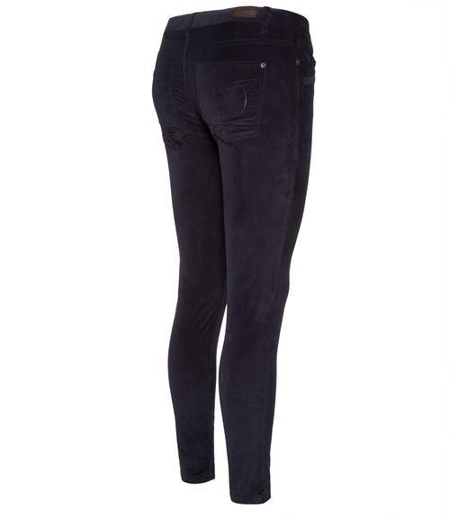 Tmavě modré semišové kalhoty|31 - 2
