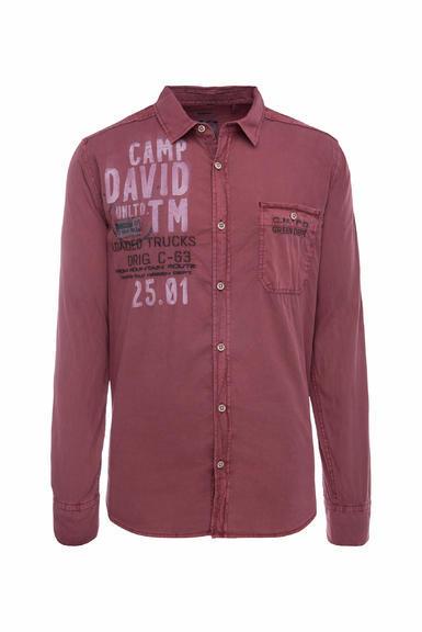 Košile CCG-1910-5080 maroon red|M - 3