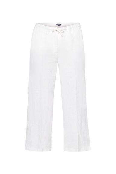 Lněné kalhoty SCU-2000-1389 Cotton White|S - 3