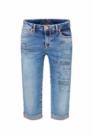 Džínové 3/4 kalhoty SDU-2000-1870 medium blue|28 - 3