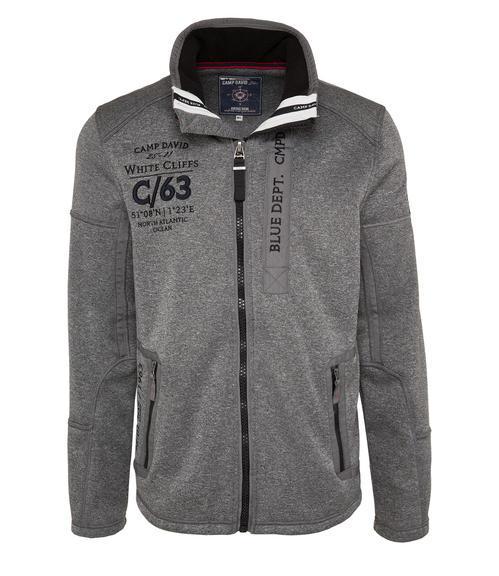 Antracitově šedá softshellová bunda s prošíváním|M - 3