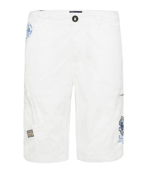 Bílé kraťasy s kapsami na zip|XXXL - 3
