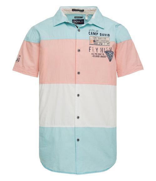 košile 1/2 CCB-1804-5420 old aqua|XXL - 3
