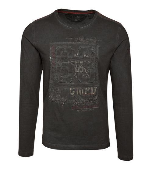 Černé tričko s prošívaným nápisem|M/L - 3