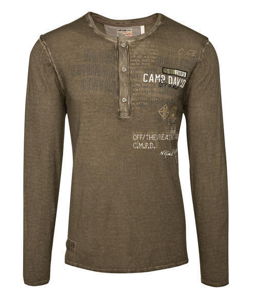 Vzdušný khaki svetr|S - 3