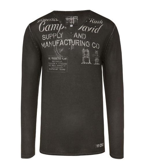 Ležérní černý svetr|M - 3