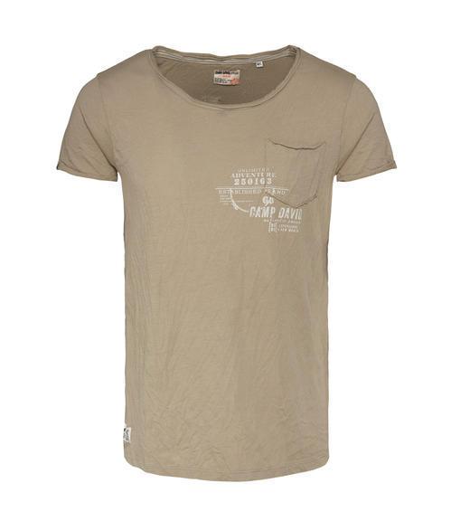 Khaki tričko s náprsní kapsičkou S - 3