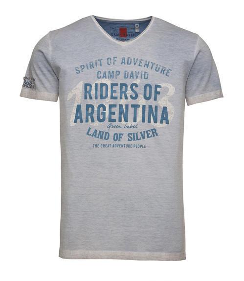 světle modré tričko s potiskem|S - 3