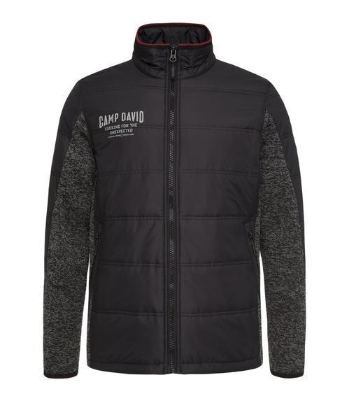 černá mikinová bunda|M - 3
