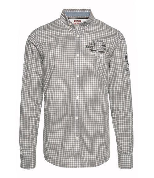 Šedo-bílá károvaná košile|M/L - 3