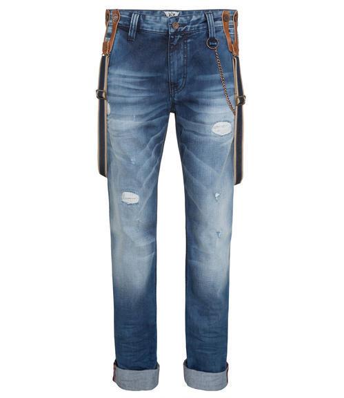 Džínové kalhoty s kšandami 34 - 3