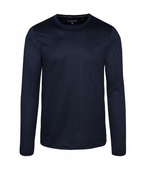 Tmavě modré tričko s dlouhým rukávem a logem|S - 3