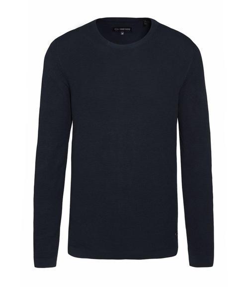 Tmavě modrý pletený svetr|L - 3