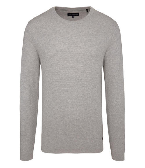 Světle šedý pletený svetr|XL - 3