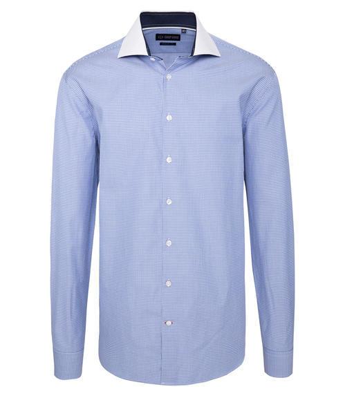 Modrá košile s tkanou strukturou 41 - 3