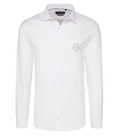 Bílá košile s pruhy na zádech|40 - 3