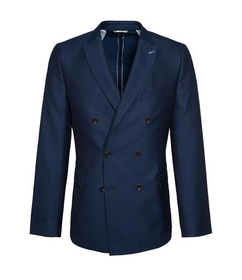 Tmavě modré dvouřadé sako|50 - 3