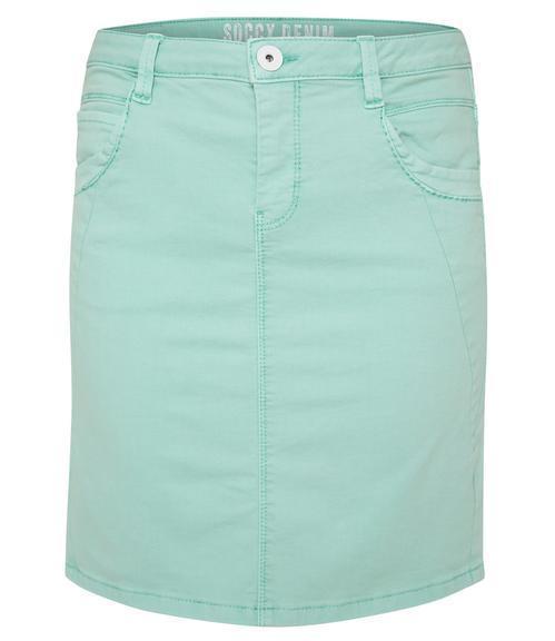 Džínová sukně SDU-1900-7392 soft green S - 3