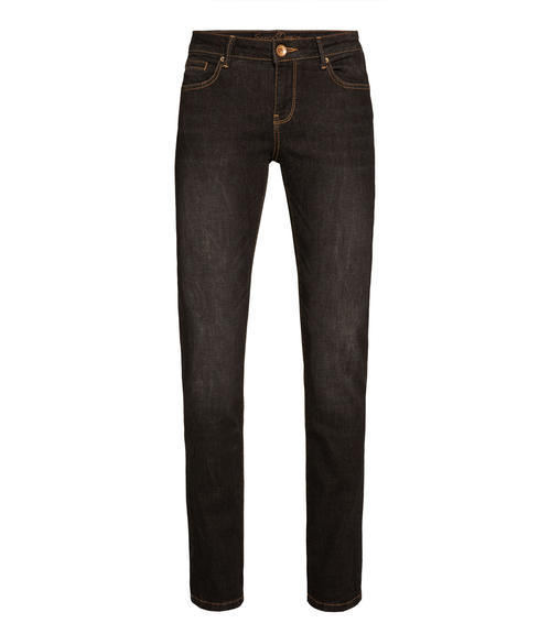 Tmavě šedé strečové džínové kalhoty|30 - 3